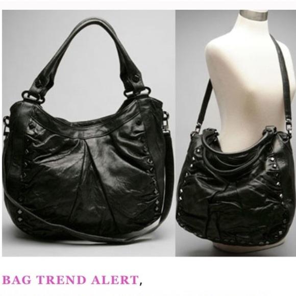 b9139f6d19f6 Treesje Marley hobo studded purse black. M 5b44fa01c2e9fe432ca42e33